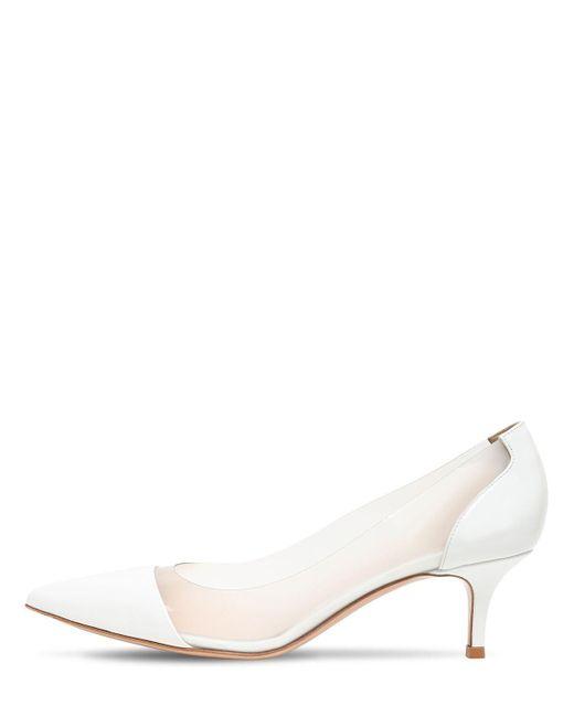 Туфли Из Плексиглас И Лакированной Кожи 55mm Gianvito Rossi, цвет: White