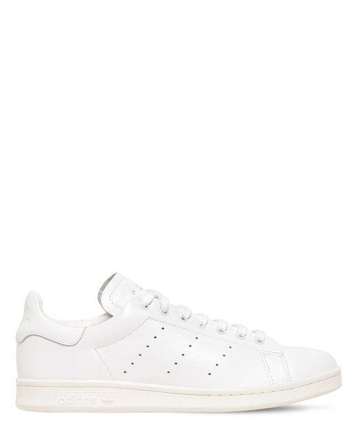 Adidas Originals Stan Smith Recon レザースニーカー White