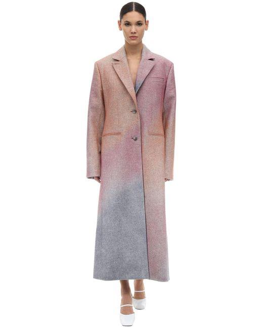 Nina Ricci Spray One ウールギャバジンコート Pink