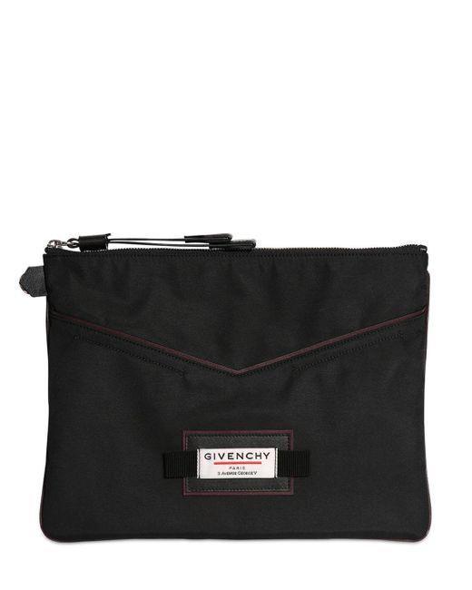 メンズ Givenchy ナイロンポーチ Black