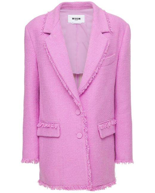 Твидовый Пиджак MSGM, цвет: Pink