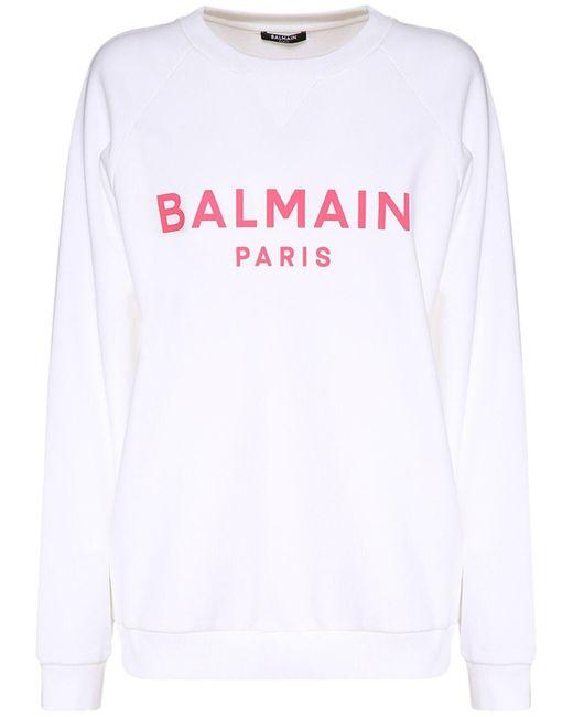 Balmain コットンスウェットシャツ White