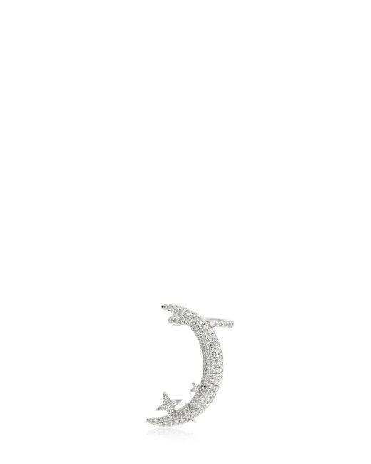 Apm Monaco - Metallic Silver Half Moon Mono Earring - Lyst