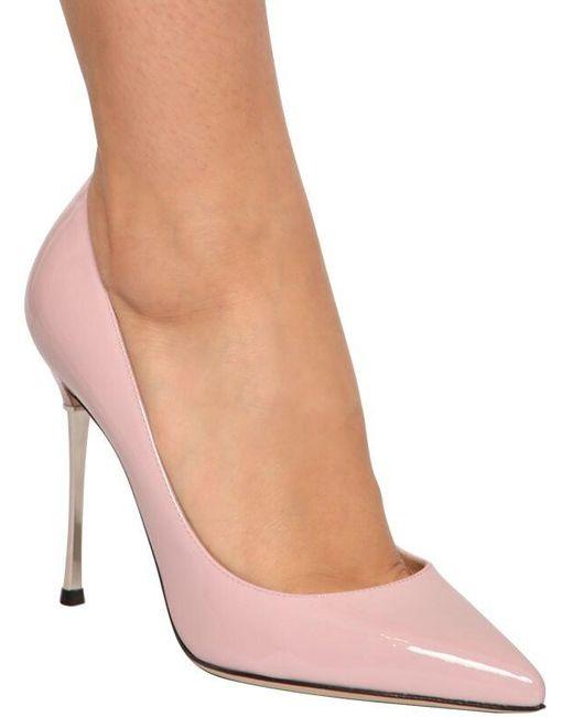 Sergio Rossi Godiva パテントレザーパンプス 105mm Pink