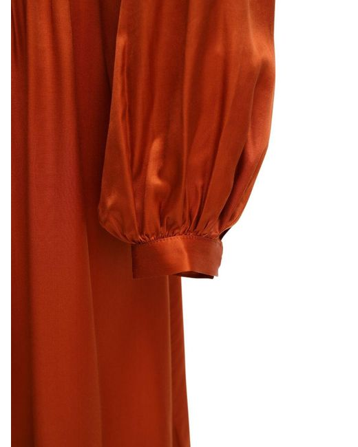 Temperley London ビスコース&シルクドレス Orange