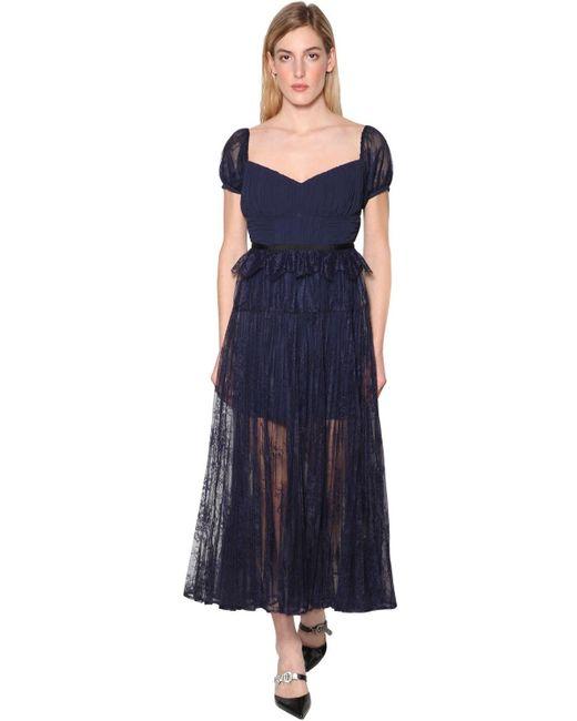 Кружевное Платье Self-Portrait, цвет: Blue