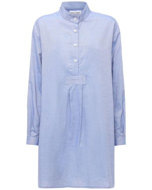 The Sleep Shirt Blue Classic オックスフォードコットンパジャマシャツ