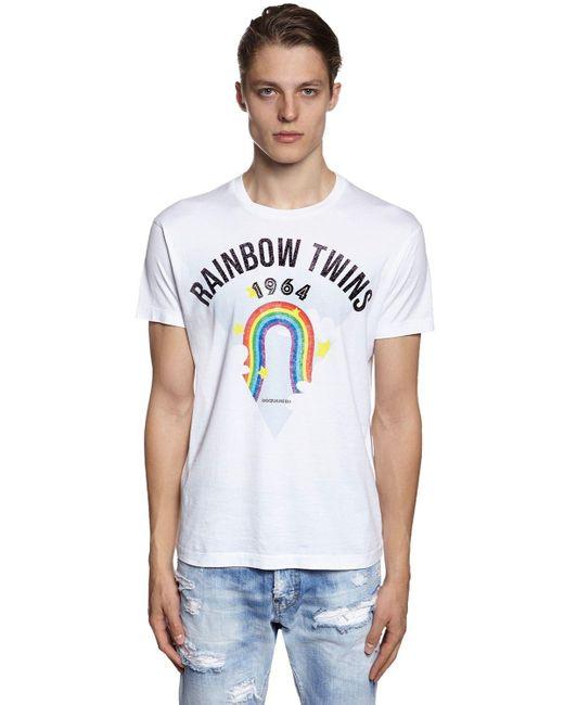 メンズ DSquared² コットンジャージーtシャツ White