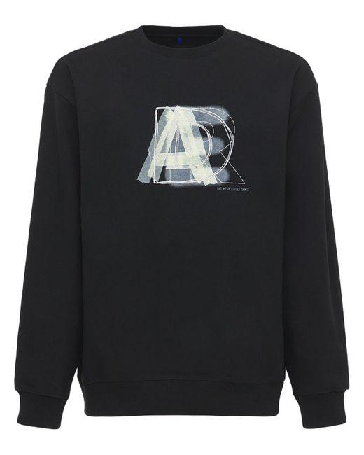 メンズ ADER ERROR コットンブレンドスウェットシャツ Black