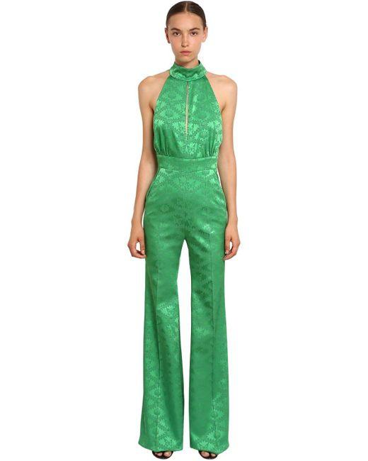 Mary Katrantzou ジャカード ロングジャンプスーツ Green
