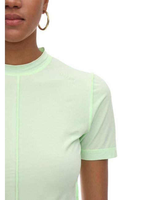 Ganni ストレッチジャージーtシャツ Green