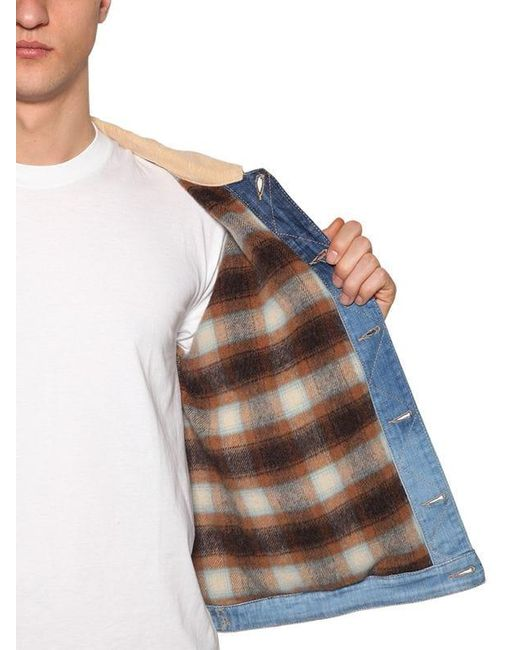 メンズ DSquared² コットンデニムジャケット Blue