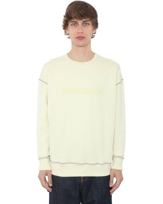 メンズ J.W. Anderson コットンジャージースウェットシャツ Multicolor