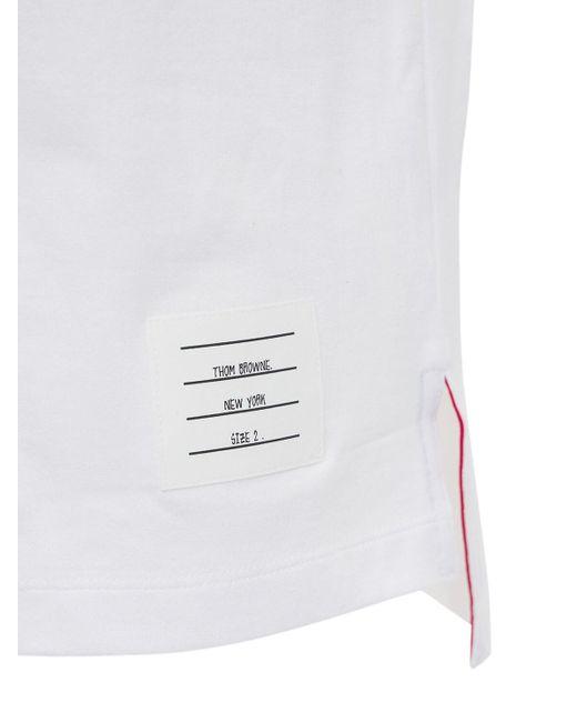 T-shirt Relaxed Fit In Jersey Di Cotone di Thom Browne in White da Uomo