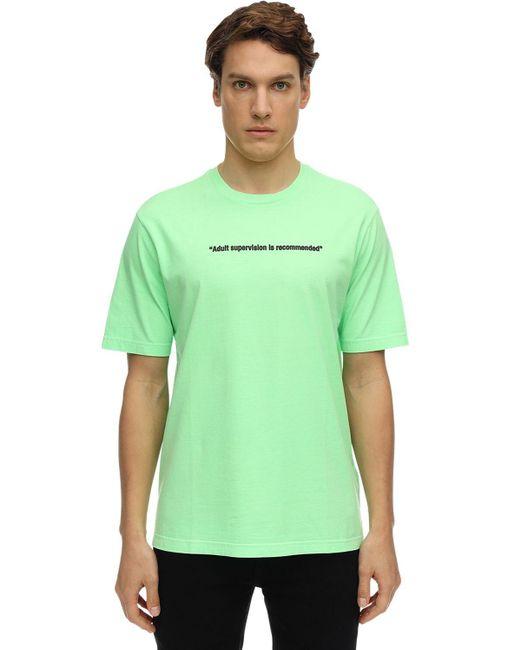 メンズ DIESEL コットンジャージーtシャツ Green
