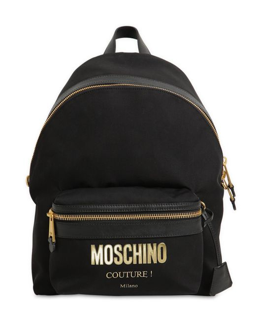 Moschino Couture ロゴ ミディアム ナイロンバックパック Black