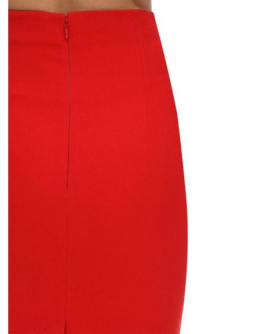 Юбка-карандаш Из Крепа Alexander McQueen, цвет: Red
