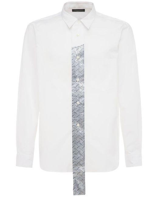 メンズ Comme des Garçons コットンブロードシャツ White