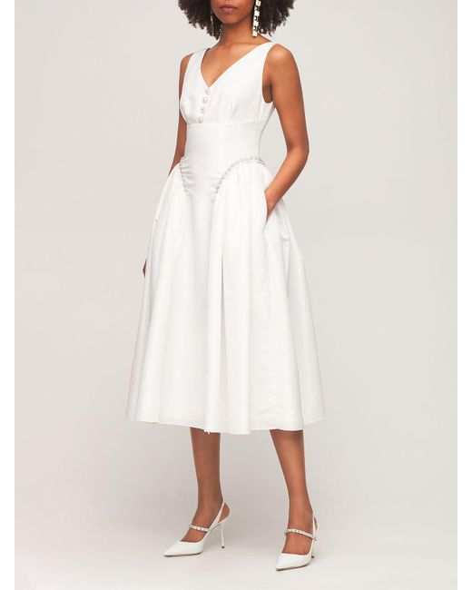 Платье Из Тафеты Self-Portrait, цвет: White