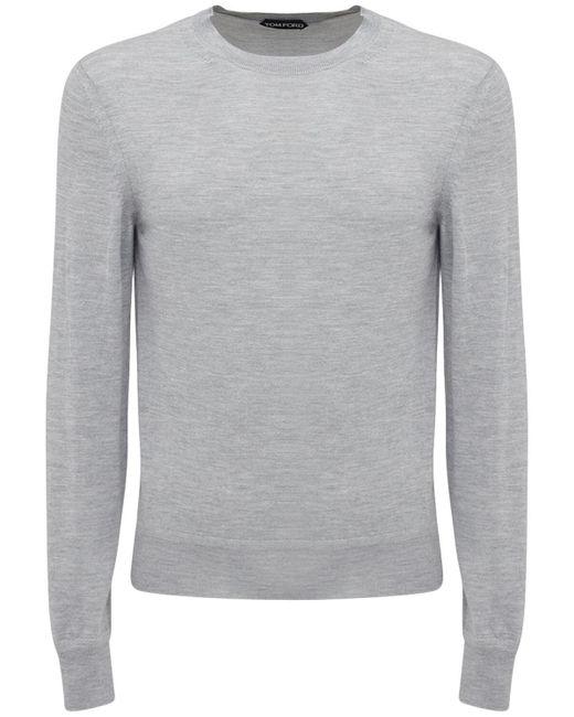 メンズ Tom Ford カシミア&シルクニットセーター Gray
