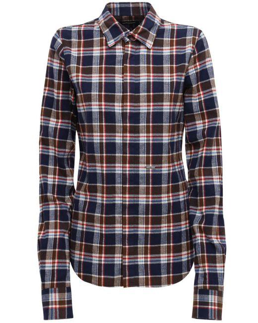 DSquared² コットンフランネルシャツ Blue