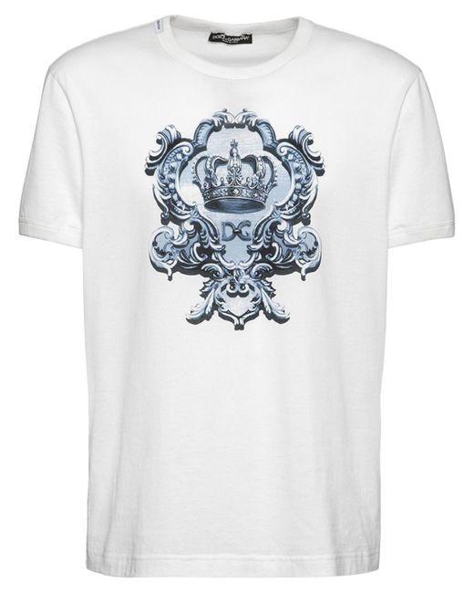 メンズ Dolce & Gabbana Corona コットンtシャツ White
