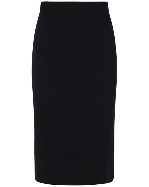 Юбка-карандаш Из Крепа Alexander McQueen, цвет: Black