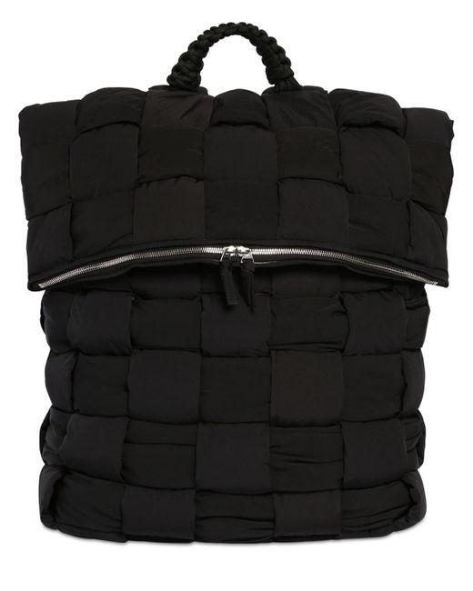 メンズ Bottega Veneta パデッドナイロンバックパック Black