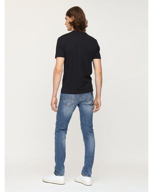 メンズ Armani Exchange コットンジャージーtシャツ Black