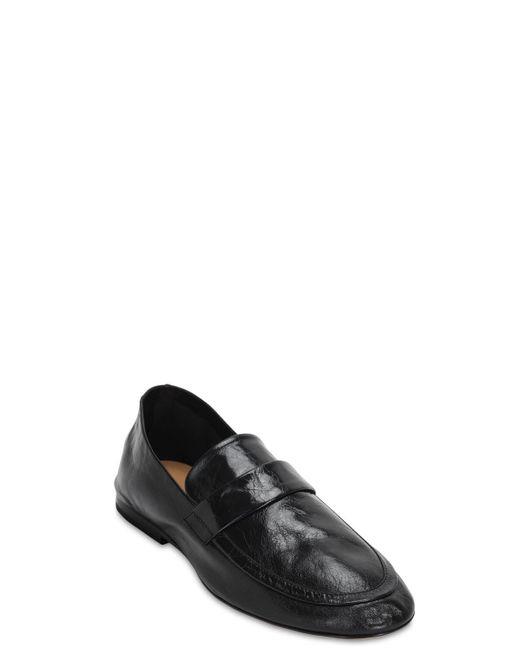 Кожаные Лоферы Bottega Veneta для него, цвет: Black