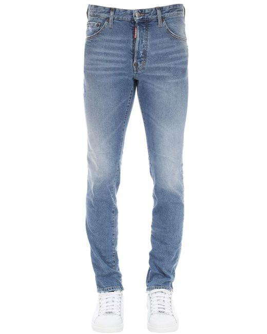 メンズ DSquared² Cool Guy コットンデニムジーンズ 16.5cm Blue