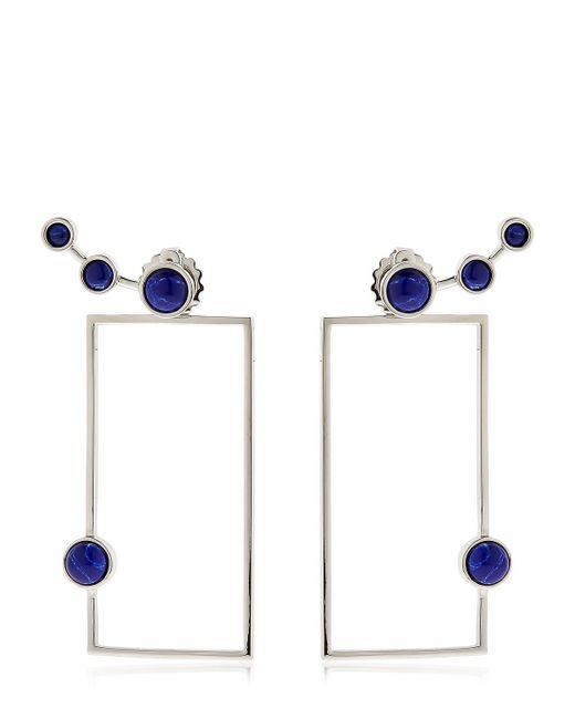 Eshvi   Blue Lava Sodalite Geometric Earrings   Lyst