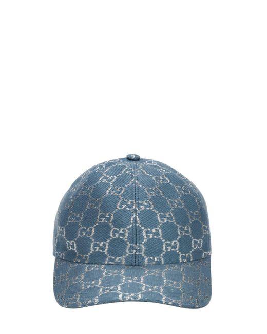 Бейсбольная Кепка Из Смешанной Шерсти Gucci, цвет: Blue