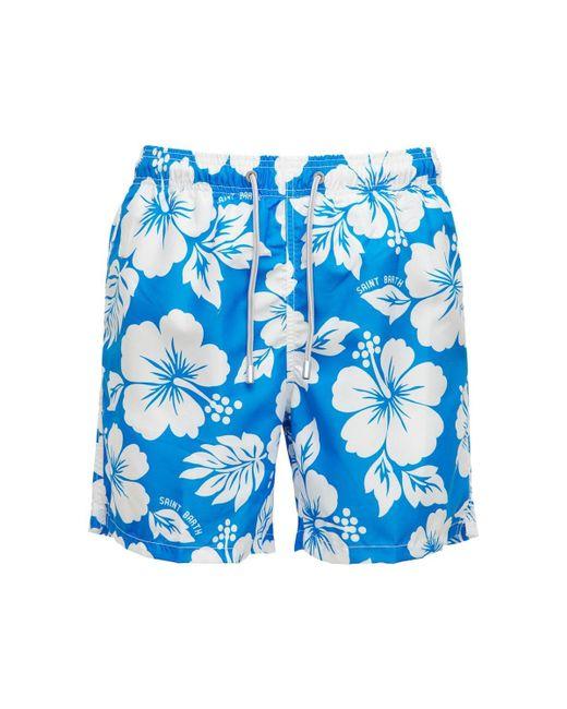 メンズ Mc2 Saint Barth Gustavia Hawaii テック素材 水着 Blue