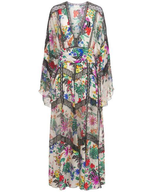 Платье Из Шелкового Крепдешина С Принтом Zuhair Murad, цвет: Multicolor