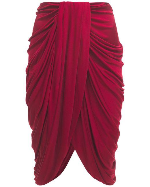 Isabel Marant Dotina ドレープジャージースカート Red