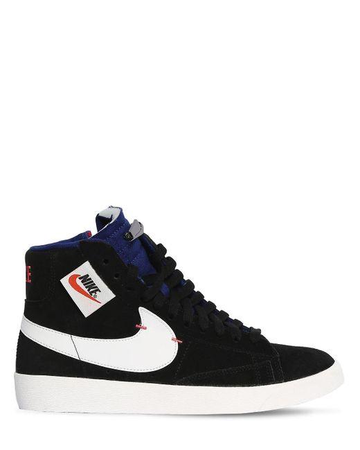 """Nike Sneakers Altas """"Blazer Mid Rebel"""" De Ante de mujer de color azul"""