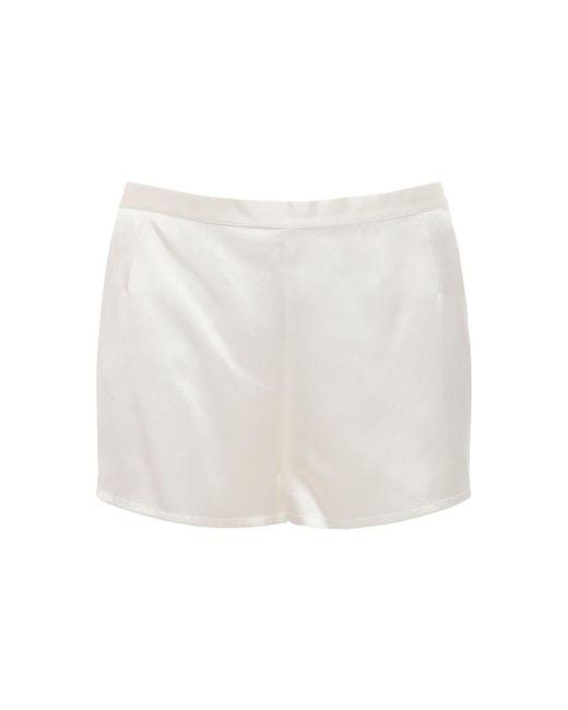 La Perla シルクサテンショートパンツ White