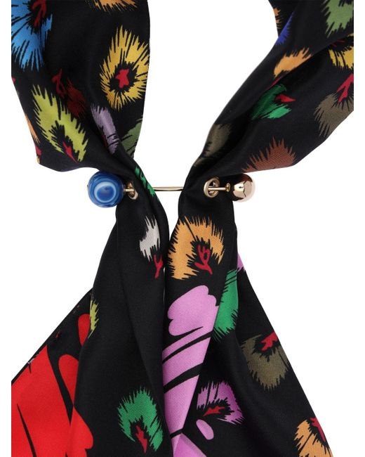 Missoni Multicolor Bedruckter Seidenschal Mit Kettenverschluss