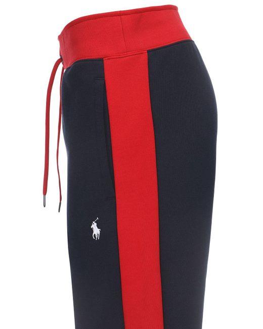 メンズ Polo Ralph Lauren コットンブレンドスウェットパンツ Blue