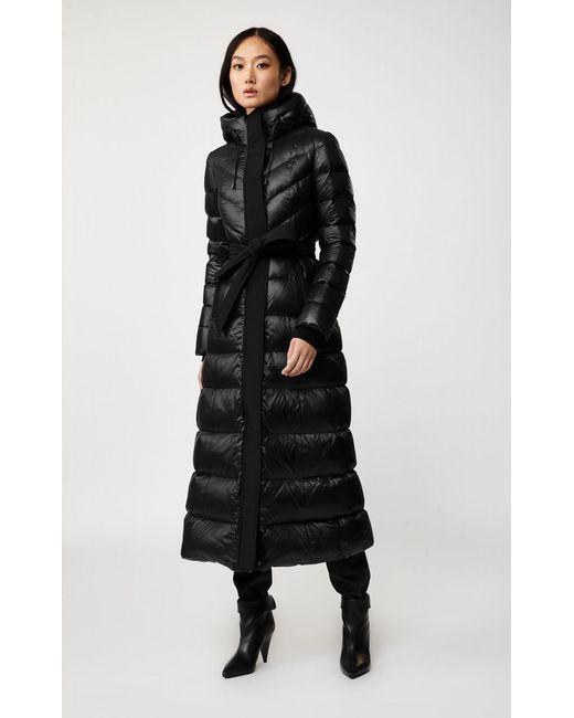 Manteau Long De Duvet Léger avec Ceinture en Noir Mackage en coloris Black