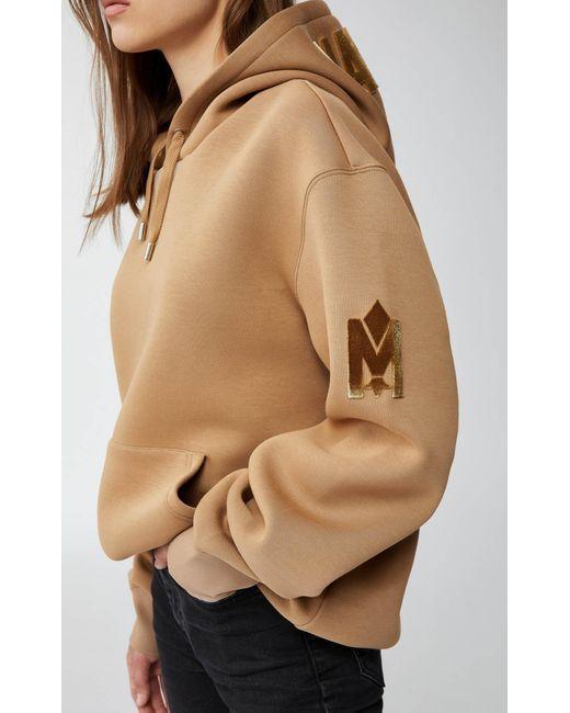 Mackage Natural Krys Unisex Hoodie With Rainwear Lined Hood In Camel