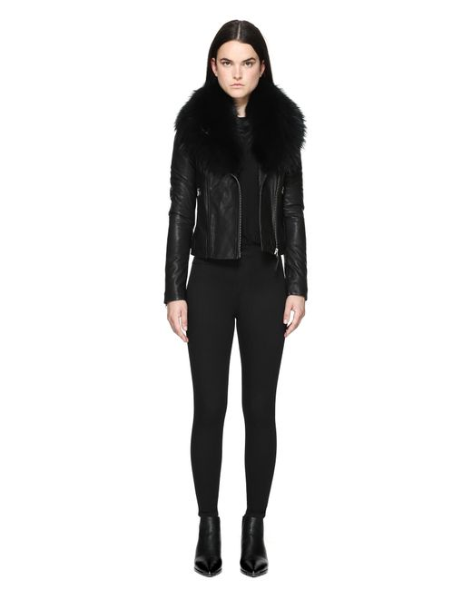 Mackage | Black Mindy Leather Jacket | Lyst