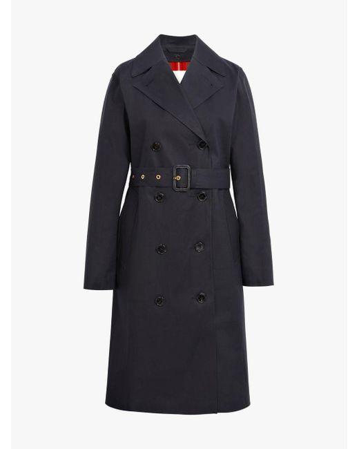 Lyst Bonded Trench in 022d Mackintosh Lr Cotton Black Black Coat xPqOBwHgP