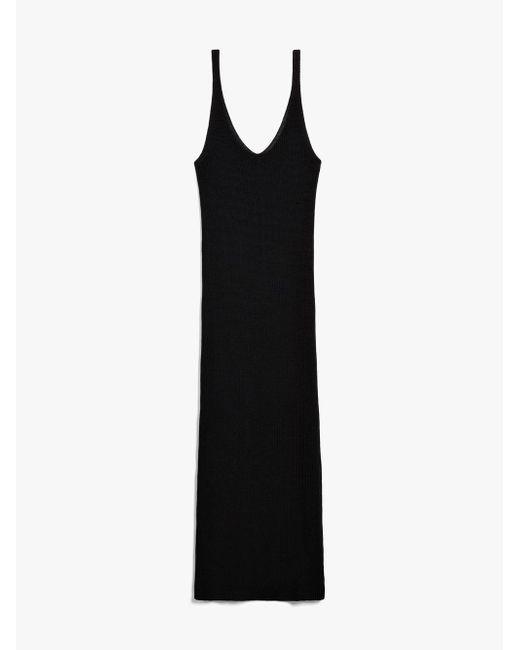 Mackintosh Black Cotton Knitted Dress