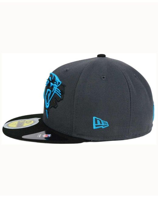 d9f1a754b ... official ktz black carolina panthers state flective 3.0 59fifty cap for  men lyst b282b 8ddd0