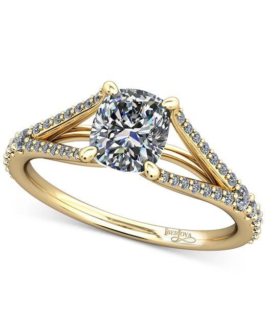 Macy's - Metallic Diamond Split Shank Mount Setting (1/4 Ct. T.w.) In 14k Gold - Lyst