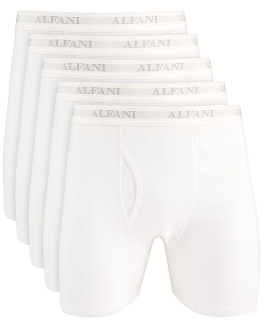 Alfani White 5-pk. Boxer Briefs, Created For Macy's for men