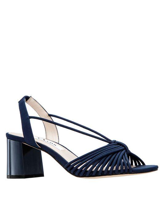 Nina Blue Nadelyn Ii Block Heel Sandals