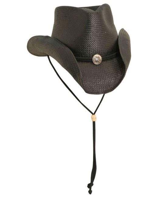 Dorfman Pacific Black Toyo Shapeable Western Hat for men